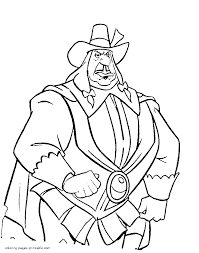 Print Disney Villains Coloring Pages In