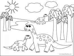 New Dinosaur Coloring Pages For Your Seasonal Colouring Cute Page Free Animal