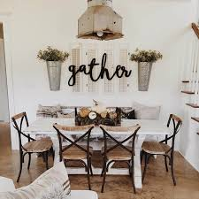 37 Timeless Farmhouse Dining Room Design Ideas That Are Simply Charming Wall Decor IdeasKitchen