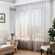 Yastouay Ombre Sheer Curtains Voile Sheer Curtains Semi Sheer Curtain For Bedroom Living Room Set Of 2 Gradient Curtain Panels 52W X 63L Inch