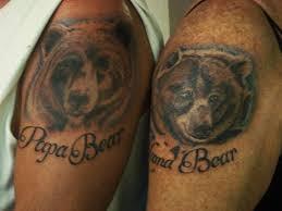 MAMA BEAR AND PAPA TATTOOS