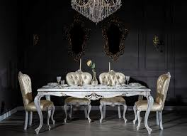 casa padrino luxury baroque dining room set gold antique white 1 dining table 6 dining chairs dining room furniture in baroque style noble