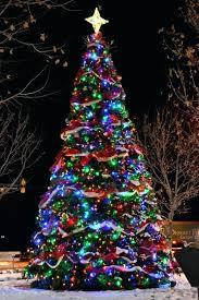 Multi Coloured Pre Lit Christmas Tree