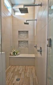 wood look tile large tile niches with accent tile dual shower