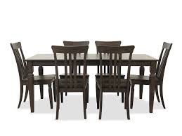 Seven-Piece Solid Wood Dining Room Set In Dark Walnut ... W Trends Farmhouse 40 Round Kitchen Ding Table Dark Whosale Ding Chair Room Fniture American Classic Sonoma Bentwood Stackable Chair Walnut Modway Fniture E1620walbei Transit Side Beige Elyse Charcoal Room Designer Singapore Soho Home X Anthropologie Willow Green Leather Hopen Hexo Black 1800mm Chairs Alpha Pair Of Grey Effect Chairs Claire