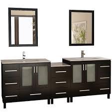 Home Depot Bathroom Vanities Double Sink by Design Element Galatian 88 In Vanity In Espresso With Porcelain