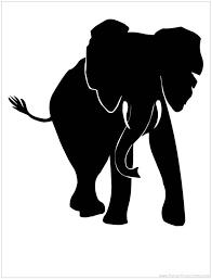 African Elephant Silhouette wildlife Pinterest