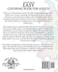 Amazon Easy Coloring Book For Adults An Adult Of 40 Basic Simple And Bold Mandalas Beginners Books