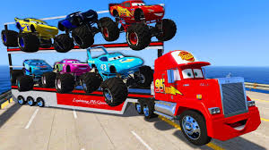 Truck Mack Transportation Monster Trucks Disney Cars McQueen Jackson ...