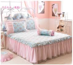 Reactive printing FLOWER bed linen COTTON bed skirt full TWIN