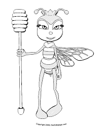 Honey Bee Queen Free Coloring Pages For Kids