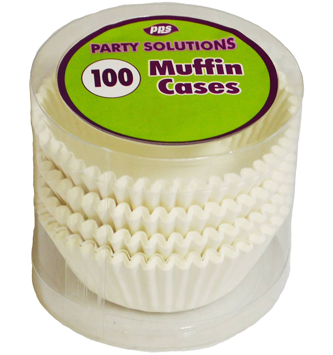 Muffin Cases x100 White Cake Accessories