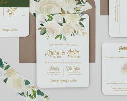 Boho Rustic White Floral Wedding Invitations And