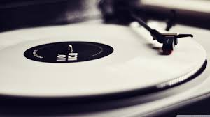 Vinyl Record Player Black And White 4K HD Desktop Wallpaper For