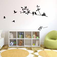 großhandel vögel auf dem schwarzen ast wandtattoo wohnzimmer schlafzimmer wand kunst wandbild dekor poster home kunst wand applique aufkleber