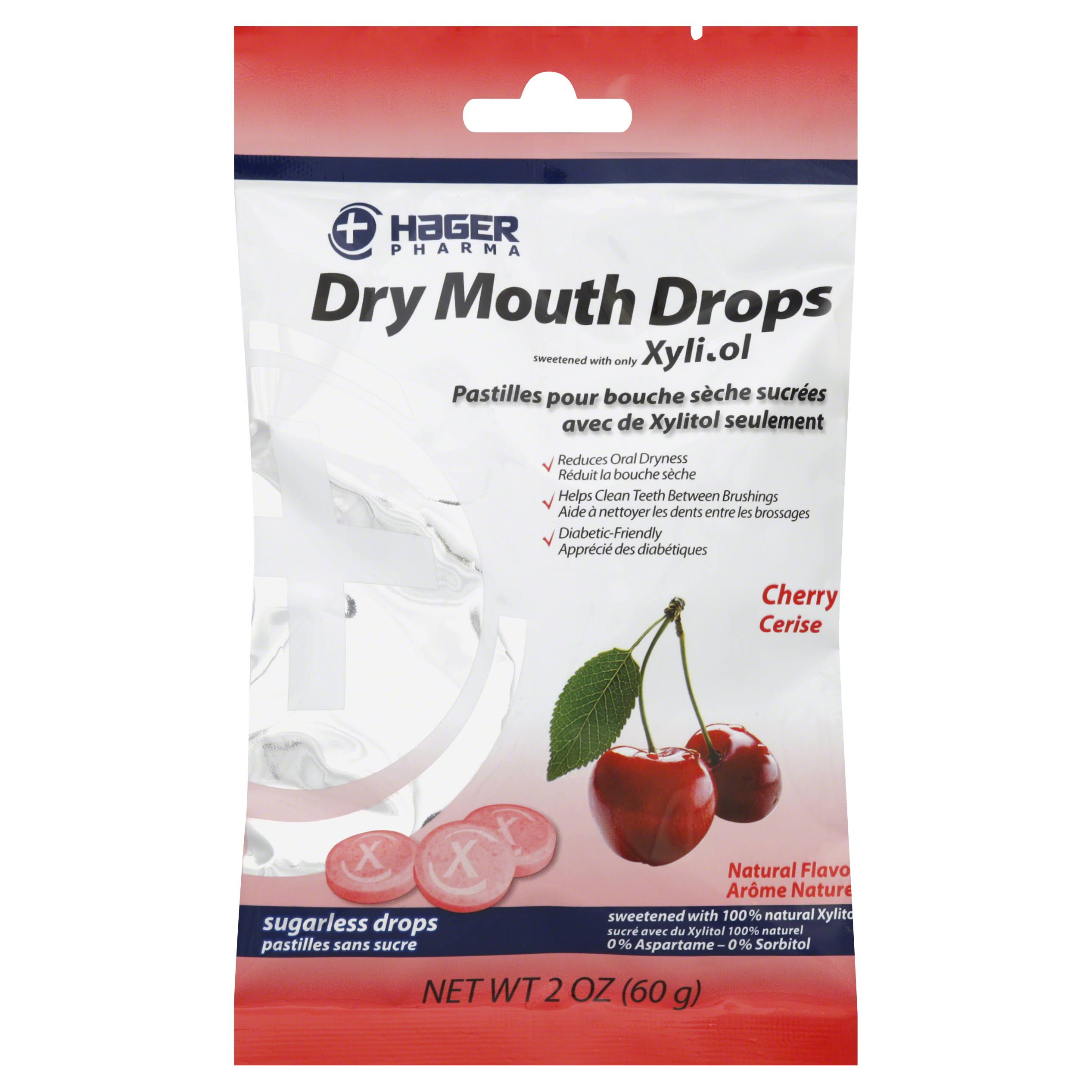 Hager Pharma Dry Mouth Drops - Cherry, 60g