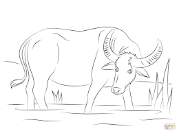 Click The Water Buffalo Coloring Pages To View Printable