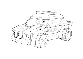 Lego Coloring Pages Police Car Page Printable Free Of Animals