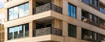 100 Travertine Facade Residential Building Ventilated Facade With Travertine