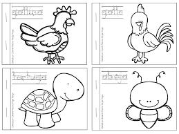 Animales Domesticos Y Salvajes Para Colorear En Preescolar