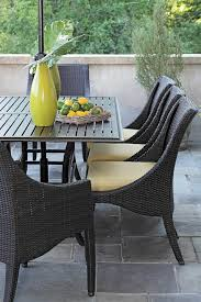 Wicker Chairs For Warmth In Dining Table