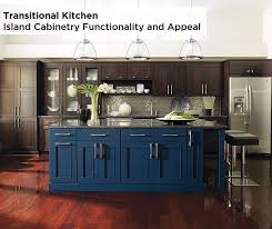 With End Of Island Seating An Expansive Countertop Drawers And Base Cabinet Functionality Blue Kitchen