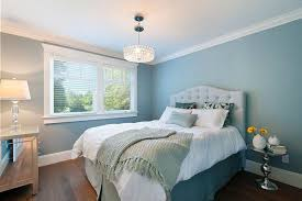 Beautiful Bedroom With Blue Walls