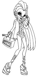 Venus McFlytrap Monster High Coloring Page