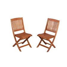 Hampton Bay Adelaide Eucalyptus Patio Dining Side Chairs (2 ...