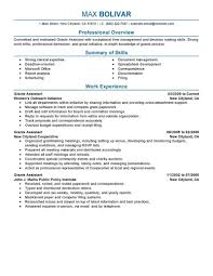 Best Grants Administrative Assistant Resume Example