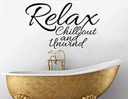 decals stickers vinyl relax chill out unwind