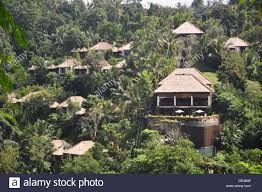 100 Hanging Gardens Hotel Ubud Bali Indonesia The Stock Photo