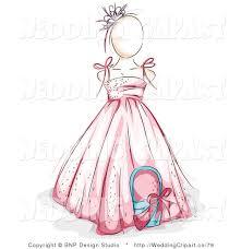 clipart girl in wedding dress 9
