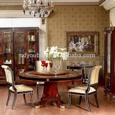 0010 High Quality Dining Room Table Round Classic Solid Wood Meeting