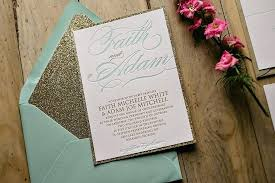 Wedding Invitations Gold Mint And Get Ideas How To Make Appealing