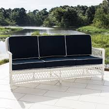 Outdoor Deep Seating Sectional Sofa by Everglades 7 Piece White Resin Wicker Patio Deep Seating Set With