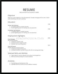 Resume For Job Basic Template Resumes