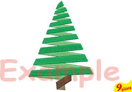 Christmas Tree Embroidery Design Machine Instant Download Commercial Use Digital File 4x4 5x7 Hoop Icon Symbol Sign Santa Mini Xmas Winter Holiday New
