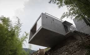 100 Cantilever House Striking Greenroofed House Cantilevers Over A Cliff In Japan