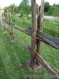 Split Rail Fence Garden Rustic Wrought Iron Best 25