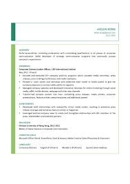 Corporate Communication Officer CV