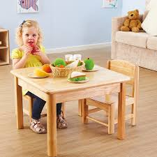 Toddler Wooden Role Play Table And Chairs