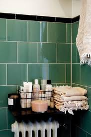 im all for green tiles in the bathroom decorista daydreams