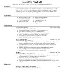 Retail Clothing Store Manager Resume Sample Resumes For Assistant Sampl