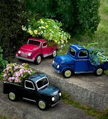 Solar Truck Planter | Decorative Garden Accents | Small Planter ...
