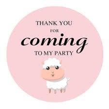 Amazoncom MAGJUCHE Pink Little Sheep Thank You Stickers Farm