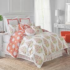 Dena™ Home Santana Reversible forter Set in White Orange Bed