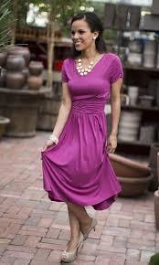 lilian modest dress in boysenberry