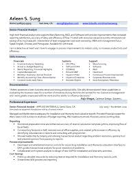 Senior Financial Analyst Resume Sample Samples For Experienced Finance Professionals New Pri