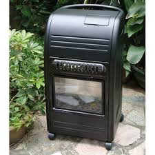 poêle à gaz effet feu de cheminée 4200 w l 34 x h 73 cm castorama